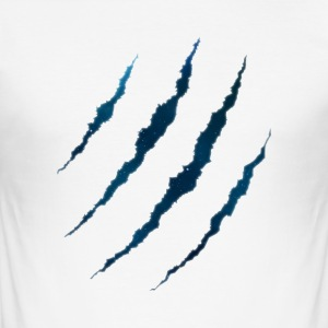 Claws Galaxy GROAHHH White Edition - Men's Slim Fit T-Shirt