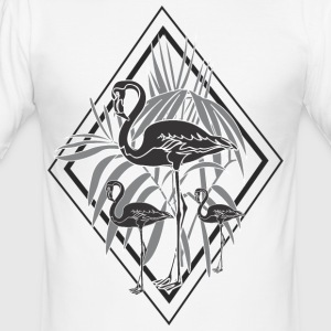 svarta flamingos - Slim Fit T-shirt herr