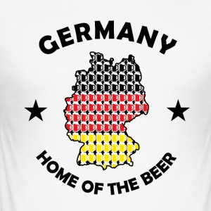 Home of Beer - Slim Fit T-shirt herr