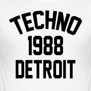 Techno 1988 Detroit - Slim Fit T-shirt herr
