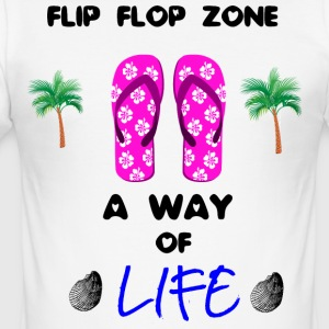 Beach - hav - Flip flops Collection - Slim Fit T-skjorte for menn
