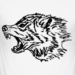 svart Wolf - Slim Fit T-skjorte for menn