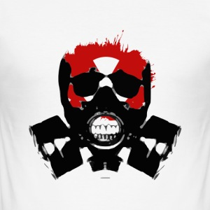 GAS MASK HORROR COLLECTION - Men's Slim Fit T-Shirt