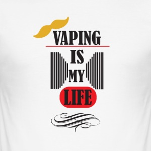vaping er mitt liv 3 - Slim Fit T-skjorte for menn