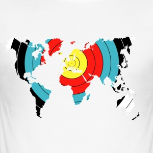 Archery World Map - Men's Slim Fit T-Shirt