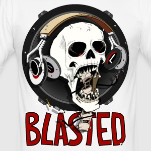 Blasted Skull - Men's Slim Fit T-Shirt