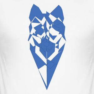Pixel-Wolf - Männer Slim Fit T-Shirt