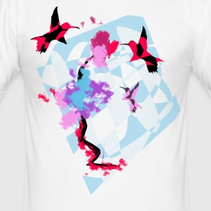 Hummingbird Art - Slim Fit T-skjorte for menn