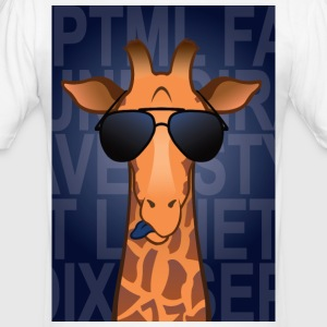Giraffe briller - Herre Slim Fit T-Shirt