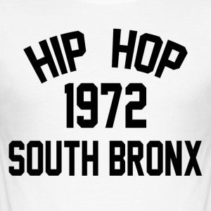 Hip Hop South Bronx 1972 - Slim Fit T-skjorte for menn