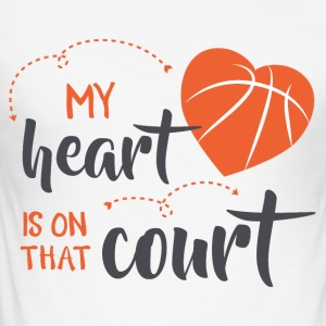 my heart is on court did - Men's Slim Fit T-Shirt