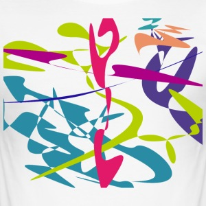 Curved tangram - Men's Slim Fit T-Shirt
