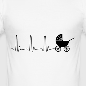 EKG heart line stroller - Men's Slim Fit T-Shirt