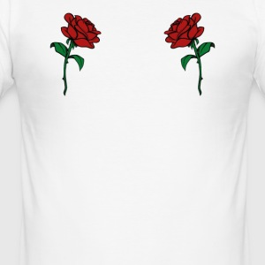 Rose Boobs Design - Trendy Rose Breasts - Men's Slim Fit T-Shirt