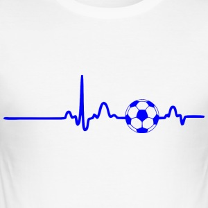 EKG HEART LINE FOTBOLL blue - Slim Fit T-shirt herr