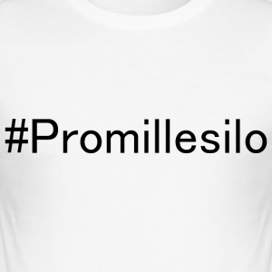 #Promillesilo - Männer Slim Fit T-Shirt