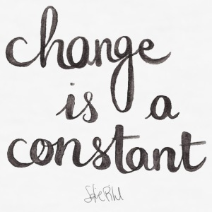 QUOTE CHANGE IS A CONSTANT - Herre Slim Fit T-Shirt