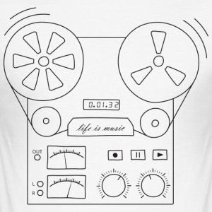 magnetic tape recorder - Men's Slim Fit T-Shirt