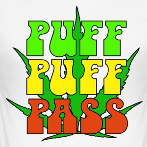 Puff Puff Pass - Men's Slim Fit T-Shirt