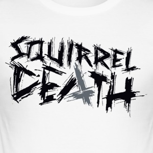 Squirrel DEATH - Logo positivt - Slim Fit T-skjorte for menn