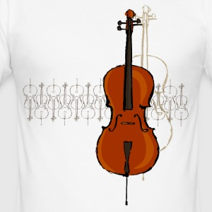 Cello Design 2 dunkel - Männer Slim Fit T-Shirt