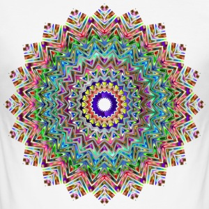 YOGA / MANDALA / POSITIV Lifen - Slim Fit T-shirt herr