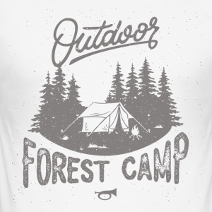 Forest Camp - Herre Slim Fit T-Shirt