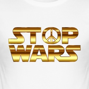 STOP THE WAR COLLECTION - Men's Slim Fit T-Shirt