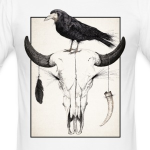 Skull and Crow - Slim Fit T-skjorte for menn