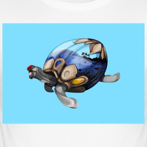 SPACE BLUE TURTLE - Herre Slim Fit T-Shirt