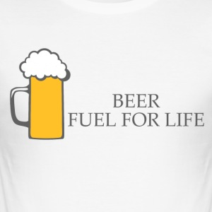 BEER : Fuel for life - Tee shirt près du corps Homme