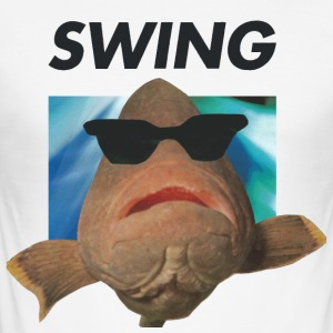 SWING fish - Men's Slim Fit T-Shirt