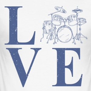 Drummer love - Men's Slim Fit T-Shirt