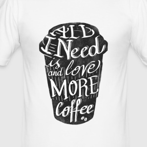 all_i_need_is_love: kopp amerikansk kaffe - Slim Fit T-shirt herr