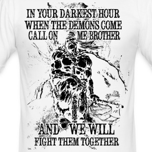In your darkest hour call on me (dunkel) - Männer Slim Fit T-Shirt