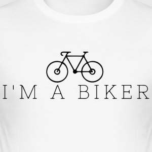 Jeg er en biker - Slim Fit T-skjorte for menn