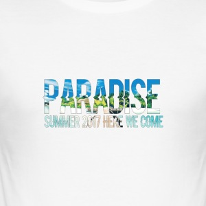 Paradise - Summer, here we come! - Männer Slim Fit T-Shirt