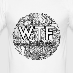 50th birthday: WTF - who's turning fifty? - Men's Slim Fit T-Shirt