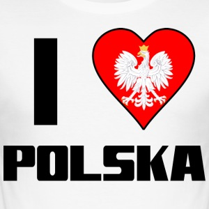 I love Polska! - Männer Slim Fit T-Shirt