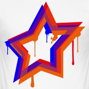 Splat Star - Männer Slim Fit T-Shirt