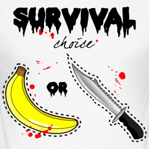 survival dilemma - Men's Slim Fit T-Shirt