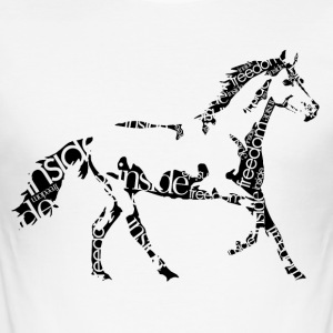 Horse_freedominside - Männer Slim Fit T-Shirt