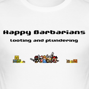 Happy Barbarians - Looting and Plundering - Männer Slim Fit T-Shirt