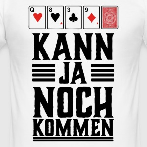 Poker shirt, kan stadig komme - Herre Slim Fit T-Shirt