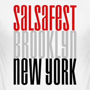 Salsafest Brooklyn New York - Salsa Dance Shirts - Men's Slim Fit T-Shirt