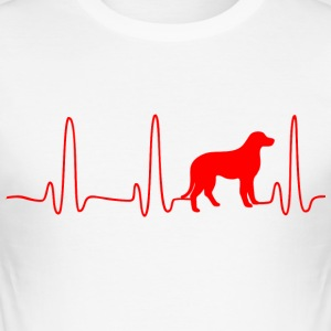 ECG HART LINE DOG rood - slim fit T-shirt