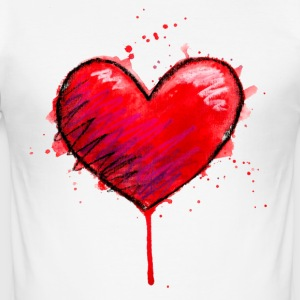 Messy Heart - Men's Slim Fit T-Shirt