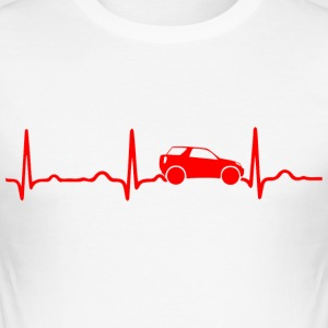 EKG HJÄRTSLAG SUV SUV red - Slim Fit T-shirt herr