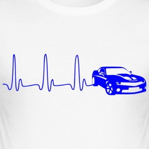 EKG-LINE AUTO blå - Slim Fit T-skjorte for menn