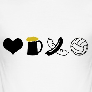 Eten, drinken, Volleybal - slim fit T-shirt